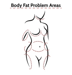 Female body fat problems areas poster vector