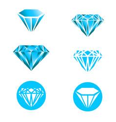 diamond logo set vector image