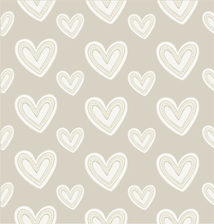 Seamless pattern hand-stitched heart on dark vector