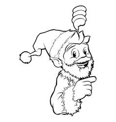 santa pointing christmas vector image