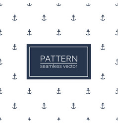 marine seamless minimalistic pattern anchors vector image