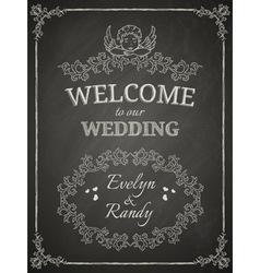 Wedding poster vector image