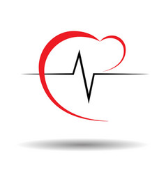 Heart pulse vector