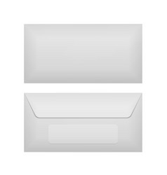 Back and front of realistic envelope template vector