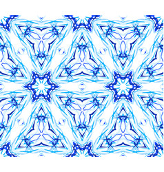 Blue flower fractal thin pattern vector