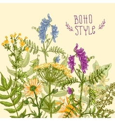 boho style flower vector image vector image