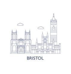 bristol vector image vector image