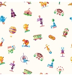 Circus carnival icons and infographic elements vector image vector image