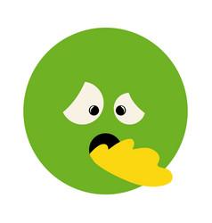 Colorful emoticon sick face expression vector