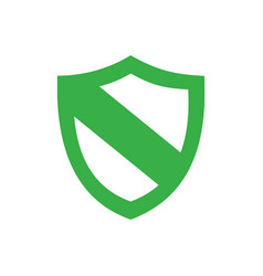 green protection shield icon on a white background vector image vector image