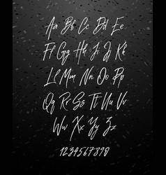 Handwritten brush style modern cursive font vector