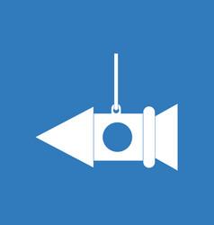 Icon toy rocket vector