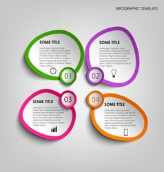 Info graphic with colorful abstract stickers vector