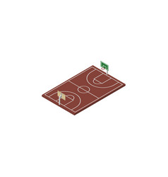 isolated basketball isometric b-ball vector image