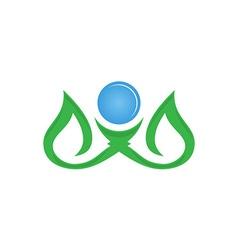 leaf logo design eco-friendly concept vector image