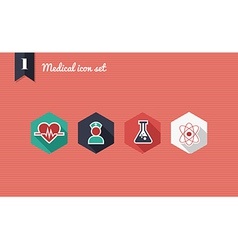 Medical health flat icons set vector image vector image