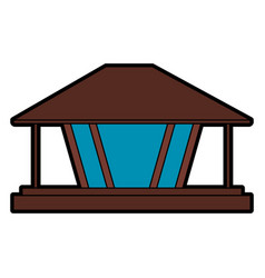 modern architecture home icon image vector image vector image