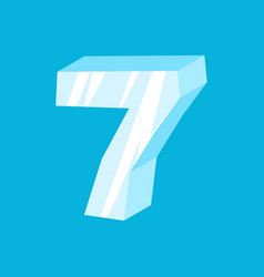 number 9 ice icicles font nine frozen alphabet vector image vector image