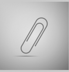 paper clip icon isolated vector image vector image