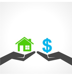 Save home and money concept vector image vector image