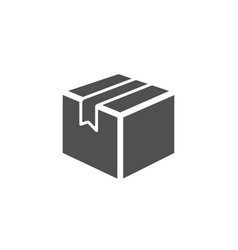 Shipping box simple icon logistics delivery sign vector
