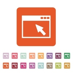 The browser icon Website and WWW network symbol vector image vector image