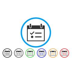 Todo list calendar day rounded icon vector