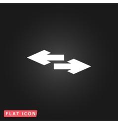 Two side arrow icon vector image vector image