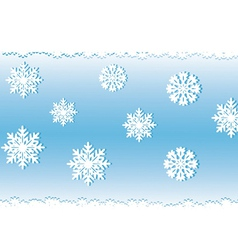 White snow on a blue background an illyusiration vector image vector image