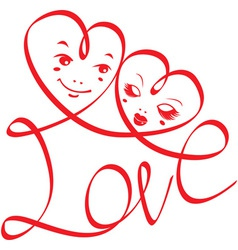 Word LOVE vector image vector image