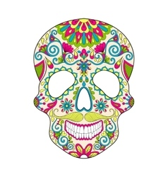 Zentangle stylized color Skull for Halloween vector image vector image