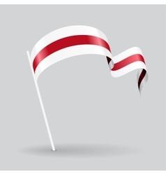 Belarus wavy flag vector image