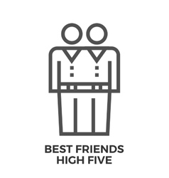 Best friends high five vector