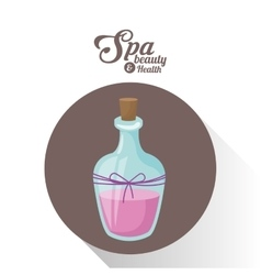 Spa beauty and health bottle aromatherapy oil vector