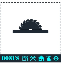 Circular saw blades icon flat vector image