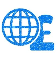 Global pound finances grainy texture icon vector