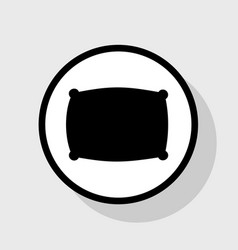 Pillow sign   flat black icon vector