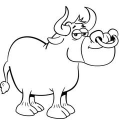 Cartoon smiling bull vector