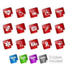 Medicine Health Care Stickers vector image