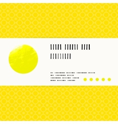 Card with watercolour circle in yellow vector