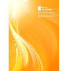 Abstract background with flame vector image