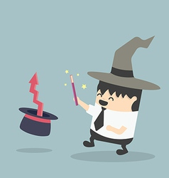 Magic businessman vector
