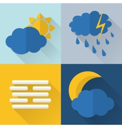 Flat style weather icons vector