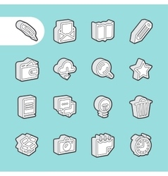 3d line icons vector