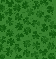 St patricks day seamless pattern with clover vector