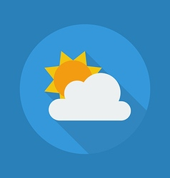 Weather flat icon partly cloudy vector