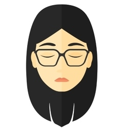 Grieving woman with eyes closed vector image
