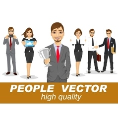 People with business characters vector