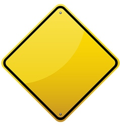 Blank glossy road sign vector