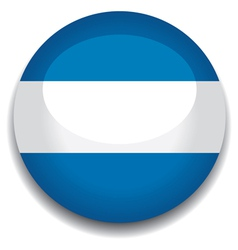 argentina flag in a button vector image